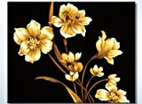 "DiyOilPaintings Golden Flower and Moon Paint By Number Kits, 20""x16"", Golden Paint By Numbers Kits"