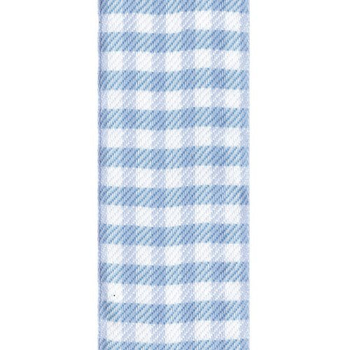Offray Neo Gingham Check Craft Ribbon, 1-1/2-Inch Wide by 10-Yard Spool, Light Blue