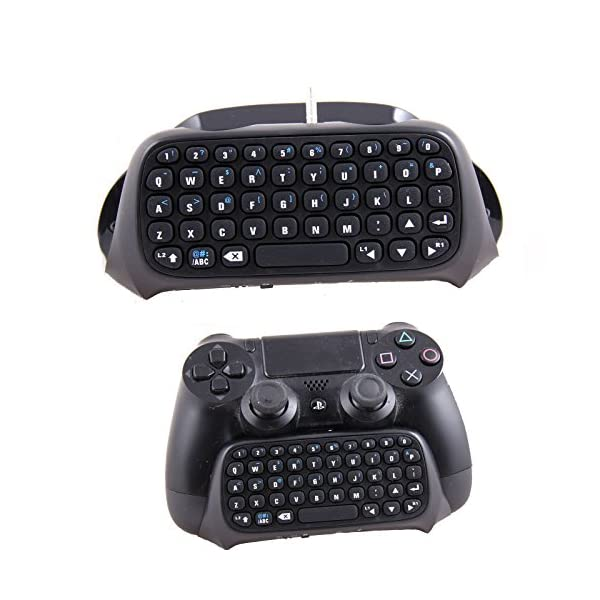 PS4 Keyboard,Prodico 2.4G Wireless Chatpad Message Keyboard for PS4 Controller Update Version 7
