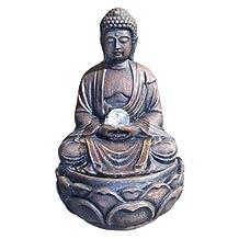 ORE International RD-WXF00342B Buddha Fountain with Crystal, 12-Inch
