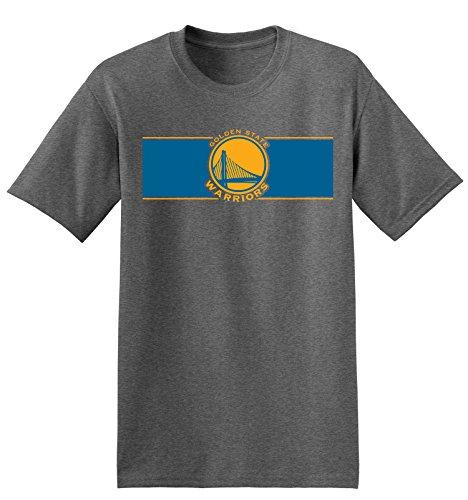 Mens Golden State Warriors T-Shirt, NBA Basketball T-Shirt (X-Large, Dark Gray)