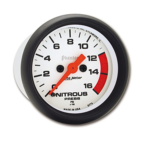 Auto Meter 5774 Phantom Electric Nitrous Pressure Gauge by Auto Meter