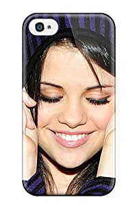 Rugged Skin Case Cover For Iphone 4/4s- Eco-friendly Packaging(selena Gomez) 8577701K16990276