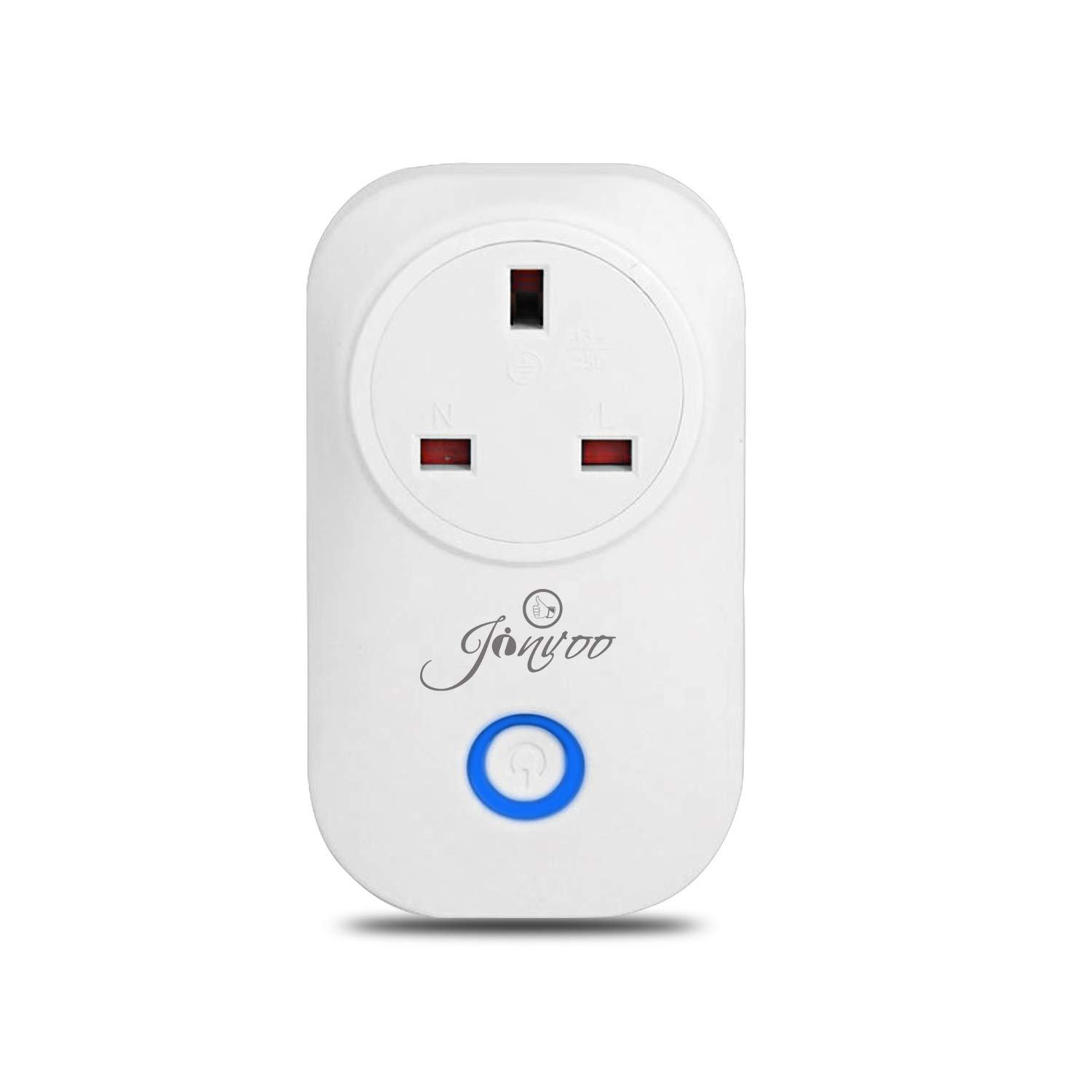 Jinvoo (2 Packs) Smart WiFi Power Plug UK Works with Smartphone App Control for iOS and Android, Timing Function, Anywhere Remote Control Switch and at Any time… Anywhere Remote Control Switch and at Any time...