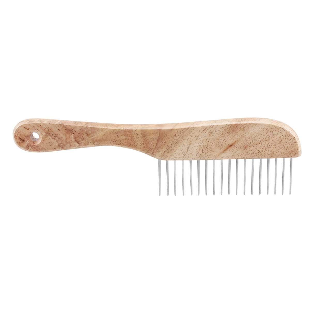 TP Ultimate Coarse Comb 9 1/2'' with Wooden Handle Dog Professsional Grooming Tool