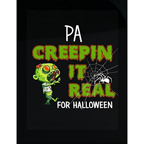 Prints Express Funny Halloween for Pa Creepin It Real Costume - Sticker