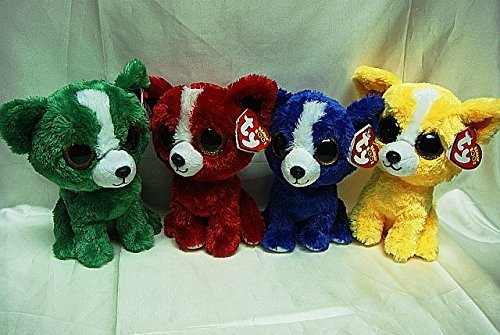 Amazon Ty TRADE SHOW EXCLUSIVE Set Of 6 Beanie Boo DOGS T BoneTomato Dandelion And Dill NEW By Inc Toys Games