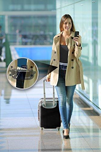 SevenBlu– atmungsaktiver Premium-Reisegürtel mit Aufbewahrung für Geld und Reisepässe–mit Diebstahlschutz: RFID-blockierende Technologie–Schützen Sie Ihr Geld, Kreditkarten, Ausweise, Dokumente &