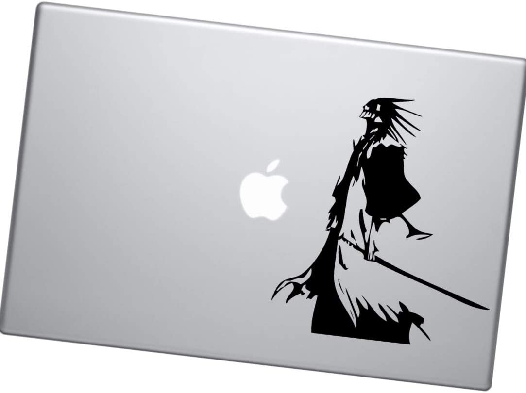 Laptop Stickers for MacBook Door Wall A/&B Traders Bleach Anime Decal Kenpachi Zaraki Anime Vinyl Decal Sticker for Car Window//Bumper White Glossy