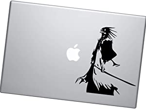 Bleach Anime Decal Kenpachi Zaraki Anime Vinyl Decal Sticker for Car Window/Bumper, Stickers for MacBook, Laptop, Door, Wall by A-B Traders. (White Glossy)