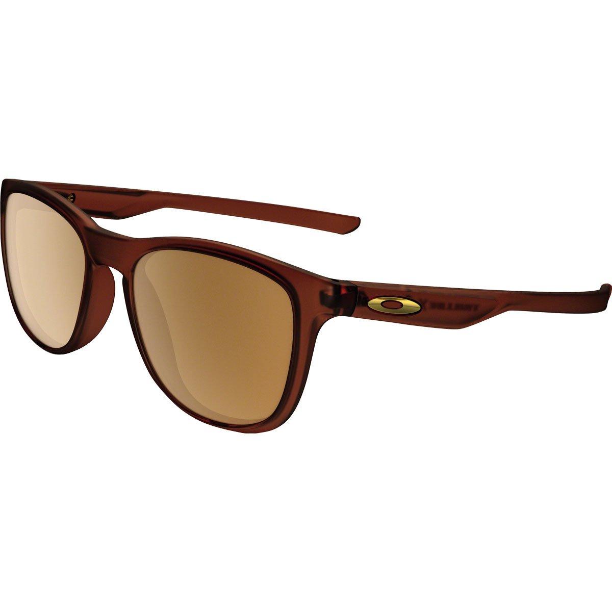 Oakley Men's OO9340 Trillbe X Rectangular Sunglasses, Polished Rootbeer/Dark Bronze, 52 mm by Oakley