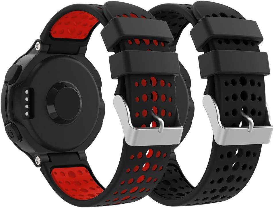 YPSNH Compatible para Correa Forerunner 235 Reemplazo Suave Silicona Deportiva Accessorios de Reloj Pulsera Ajustable para Garmin Forerunner 235/220/230/620/630/735 Smart Watch …