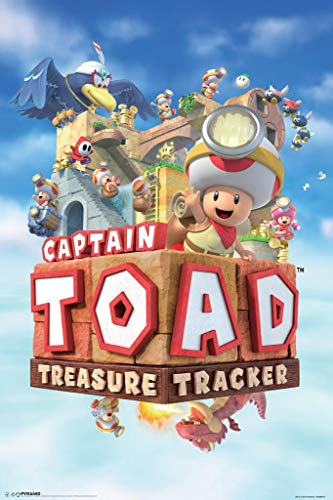 (Pyramid America Laminated Captain Toad Treasure Tracker Sign Poster 12x18 inch)