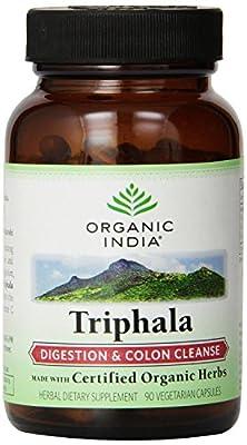 ORGANIC INDIA Triphala Capsules - Pure Triphala Herbal Formula for Natural Digestive Support