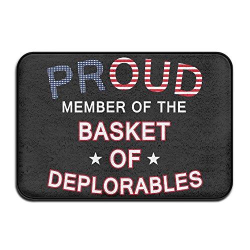 KI3SOP Proud Member Of The Basket Of Deplorables Non Slip Doormat (23.6 X 16 X 0.4 Inches)