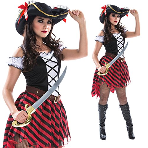 Womens Sexy Pirate Wench Fancy Dress Costume Costume (Pirate And Wench)