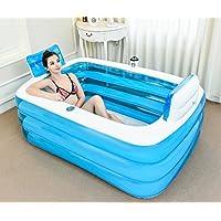 FHK,Baignoire pliante Augmenter l'épaississement de la baignoire pour adultes Baignoire en plastique Bubble Baignoire gonflable, baril de bain