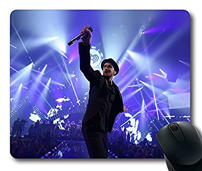 Custom Gaming Mouse Pad with Wallpaper Justin Timberlake Music Face Non-Slip Neoprene Rubber Standard Size 9 Inch(220mm) X 7 Inch(180mm) X 1/8 Inch(3mm) Desktop Mousepad Laptop Mousepads Comfortable Computer Mouse Mat