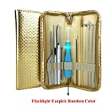Exttlliy Set of 12 Ear Wax Removal Tool Ear Curette Earwax Cleaner Pick Kit with Storage Case