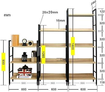MTG Estantería Estantería Escalera de estantería Estantería con marco de metal Oficina en casa Estante de almacenamiento Estante Ahorro de espacio y fácil de instalar,Marco negro,4 niveles: Amazon.es: Bricolaje y herramientas