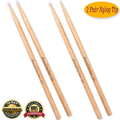 - Drum Sticks 5A Drumsticks Nylon Tip Drum Stick (2 Pair Nylon Tip Oak 5A)