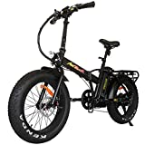 Addmotor Motan Folding Adult Electric Bikes 20 Inch Fat Tire Bicycle 48V 500W Motor Pedal Assit Ebike 10.4Ah Lithium ION Battery Snow Beach M-150 for Men Women 4