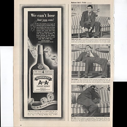 Straight Rye Whiskey - Schenley's Ancient Age Straight Whiskey Available In Bourbon Or Rye The All Around Whiskey 1939 Vintage Antique Advertisement