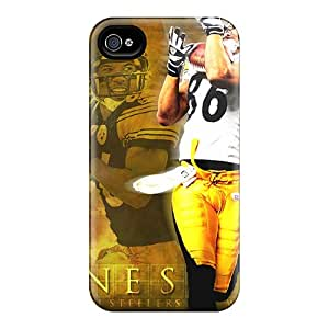 Durable Hard Cell-phone Cases For Iphone 4/4s With Provide Private Custom Lifelike Pittsburgh Steelers Pattern DrawsBriscoe