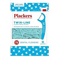 Deals on 75-Count Plackers Twin-Line Dental Floss Picks