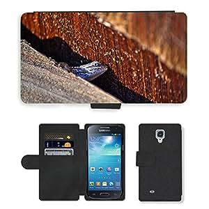 hello-mobile PU LEATHER case coque housse smartphone Flip bag Cover protection // M00136111 Lagarto Reptil Reptil Macro // Samsung Galaxy S4 Mini i9190