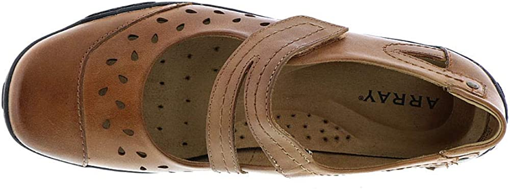 ARRAY Womens Breeze Leather Closed Toe Ankle Strap Loafers