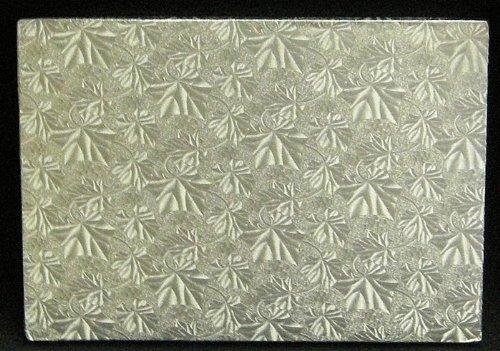 Cake Board, Rectangular Silver, 1/2