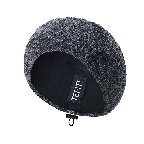 (TEFITI Womens Snood Stylish Hairnet Headcover Knit Beret Beanie Cap (Gray))