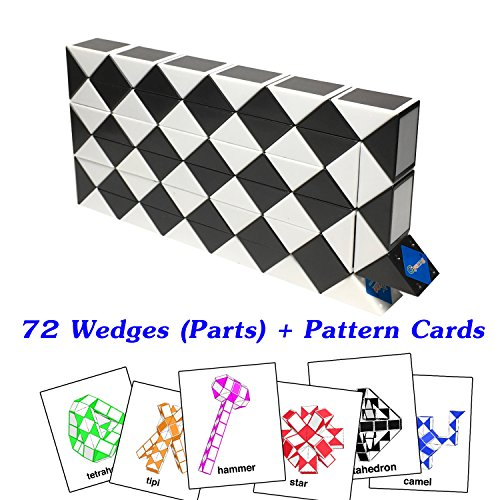 Original Speed Racer Costume (Rubik Snake Twist Puzzle 72 Wedges (Parts) with Pattern Cards Standard Size 1.3 inch for each Part)