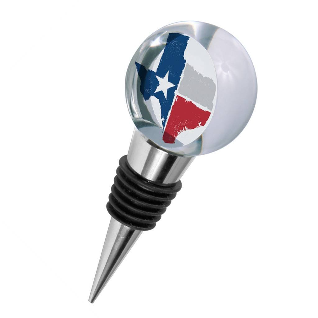 Crystal Wine Stopper - Texas Lone Star State