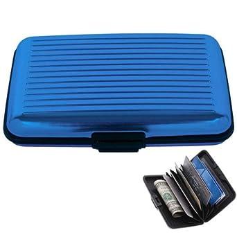 3797f39b88b9 Jobar Aluminum Security Credit Card Wallet (Blue)
