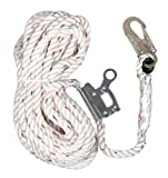 3M AO Safety/3M Tekk 94023 Safewaze 50-Feet Rope Lifeline with Rope Grab