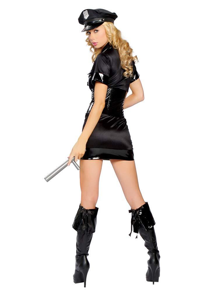 Amazon.com: GYH - Disfraz de oficial de policía negro para ...