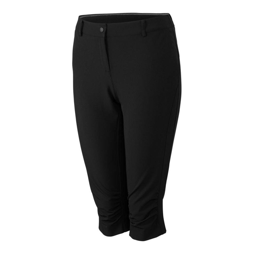 Cutter & Buck Annika Women's Moisture Wicking, UPF 50+, Stretch Morgain Long Short, Black, 0