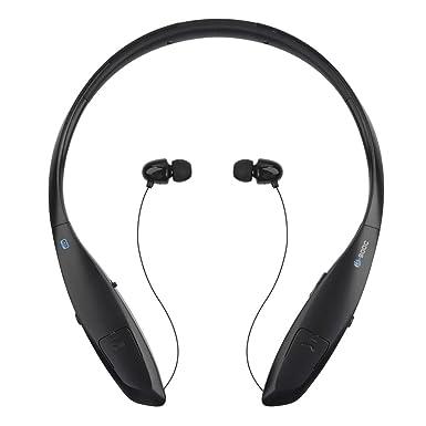 Auriculares Bluetooth con banda para el cuello, plegables, retráctiles, inalámbricos, con cancelación