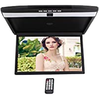 HD 17 Digital TFT Monitor Car Roof Mount Display for cars Flip Down Monitor built-in FM Modulator Overhead player USB SD 2 Video input