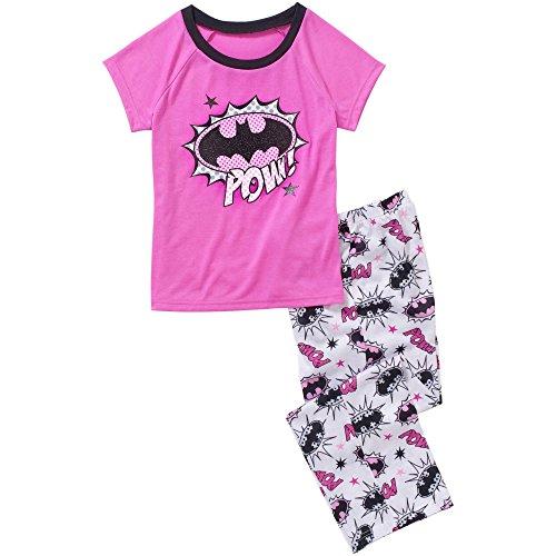 DC Comics Batman Batgirl Pajama Sleepwear Set Little Girls' XS (4/5) Pink