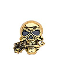 7b4c684d0ad MagiDeal Gothic Punk Skull Brooch Scary Brooch Pin Halloween Jewelry Vintage  Decoration