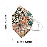 10PCs Disposable Floral Print Adults Face Macks, 4