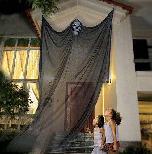 Partypeople Halloween Hanging Ghost Decorations Spooky Skeleton Prop Black (Halloween Yard Decorations Ghosts)