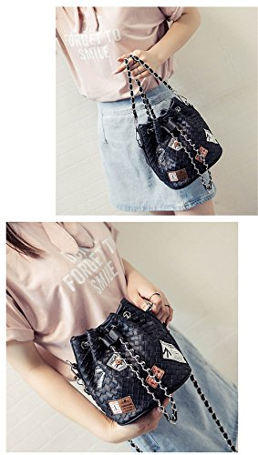 Jothin - Crossed Bag Leatherette Black Women 18cmx15cmx19cm