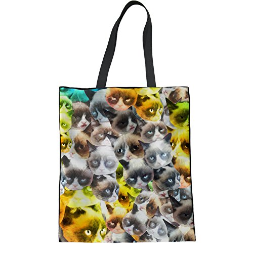 HUGS IDEA Y-H1093Z22 - Bolso de tela para mujer, Kitten2 (Marrón) - Y-H10932Z22 Kitten6