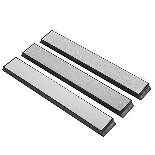 Jewboer 3PCS Silver Kitchen Knife Sharpener Sharpening Stone