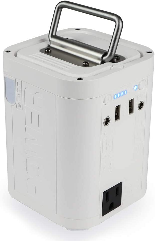 White Rechargeable Backup Power Generator Supply with 110V//100W AC Outlet for CPAP Outdoors Camping Fishing Emergency Hurricane Storm White soyond Portable Power Station Solar Generator White