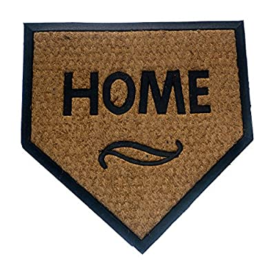 Geo Crafts G111 TC Rubber Back Home Plate-Flat Weave Doormat